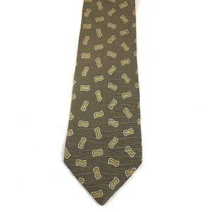 VTG Giorgio Armani Cravatte Tie Silk Necktie Taupe